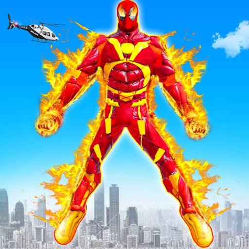 Flying Fire Hero Robot Transform: Robot Games