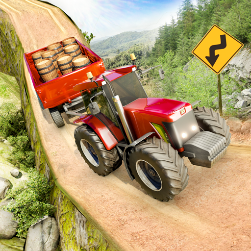 Offroad Tractor Trolley Cargo Driving