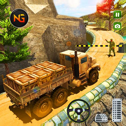 Offroad US Army Cargo Transport Truck Driving