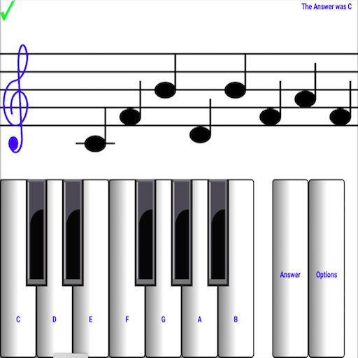 (light) learn sight read music notes piano tutor