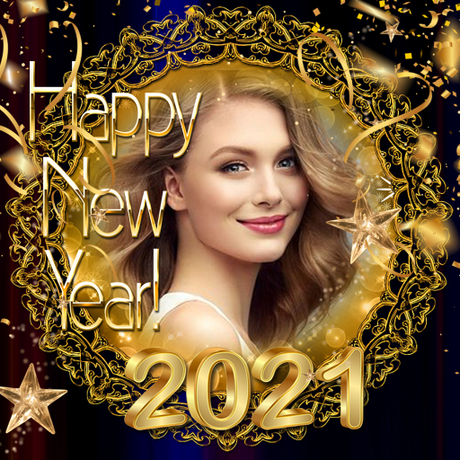2021 New Year Photo Frames Greeting Wishes