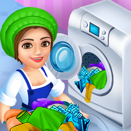 Laundry Shop Clothes Washing Game